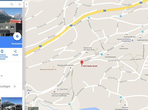 Dorf-Center neu bei Google Maps
